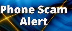 photo of phone scam alert